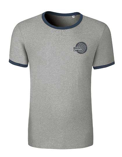 Contrast T-Shirt Herren (Gr. XS-XXL) -100% Bio-BW (Heather Grey / Navy und Dark Heather / Black)