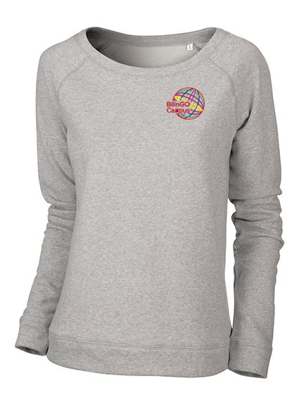 Sweatshirt DAMEN (weiter Halsausschnitt) - (XXS - XXL)  - 85/15 (heather grey)