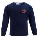 Kinder Langarm-Shirt, 100% Biobaumwolle, Gr. 140 & 152 in Navy und weiß