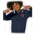 Sweatjacke KINDER - (140 & 152) - 85%BioBW/15%Polyester in heather grey und navy